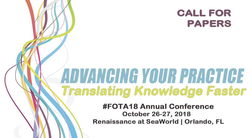 FOTA18 CALL FOR PAPERS FOTA CONFERENCE